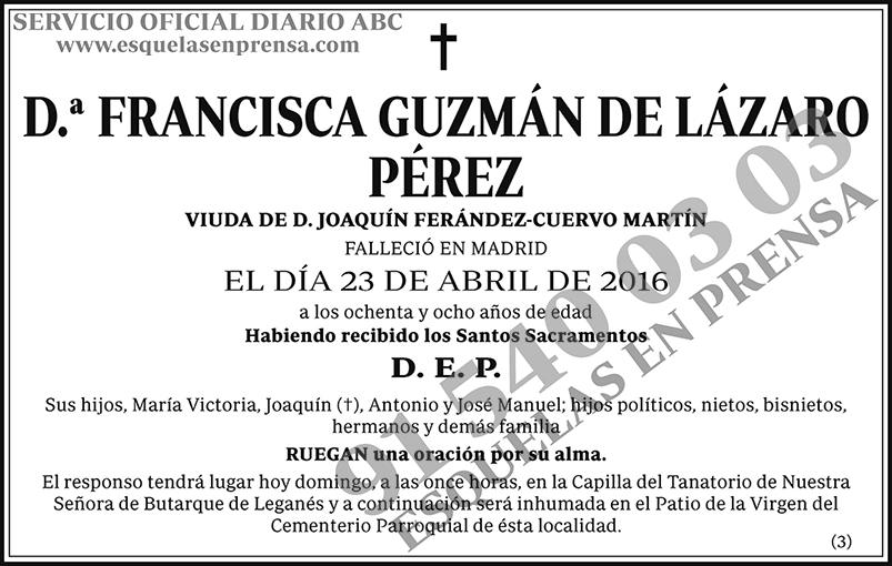 Francisca Guzmán de Lázaro Pérez